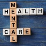 mental health care word tiles